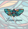 colorful hand drawn butterfly doodle style logo vector image vector image