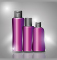 cosmetics bottle skincare vector image vector image