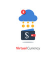 crypto wallet financial cloud technology online vector image