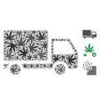 delivery collage of weed leaves vector image vector image