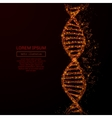 dna low poly flame red vector image vector image