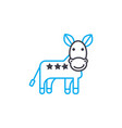 donkey linear icon concept donkey line vector image