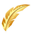 elegant feather cartoon vector image vector image