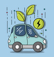 energy electric car to ecology care vector image