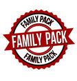 family pack label or sticker vector image vector image