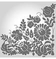 Flat floral design vector image