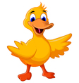 funny baby duck cartoon vector image vector image