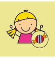 girl happy cartoon candy sweet vector image