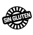 gluten free stamp in spanish vector image vector image