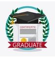 graduation cap diploma icon vector image