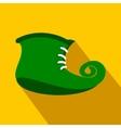 Green leprechaun boots flat icon vector image vector image
