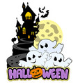 halloween theme with three ghosts vector image vector image