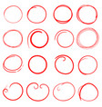 hand drawn circles icon set collection of pencil vector image vector image