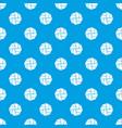 handball pattern seamless blue vector image