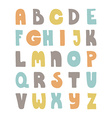 Handdrawn Alphabet vector image