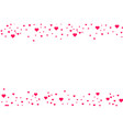 Heart shape pink and red confetti