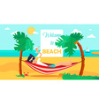 Hello Summer Concept vector image