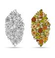 Henna paisley mehndi doodle tribal design element vector image vector image
