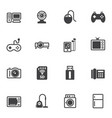 home electronic device icons set for internet vector image vector image