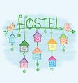 hostel vector image vector image