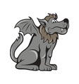 Kludde Wild Dog With Wings vector image vector image