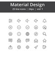 material design line icons vector image vector image