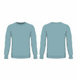 mens blue sweater vector image vector image
