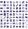 message letter icons on white vector image vector image