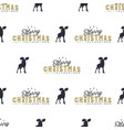 moose and merry christmas lettering pattern wild vector image vector image