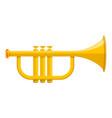 music trumpet icon cartoon style vector image