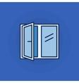 Opened window icon vector image