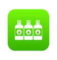 printer ink bottles icon digital green vector image vector image