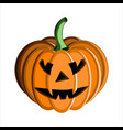 pumpkin face halloween vector image