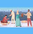 ramadan charity background vector image vector image