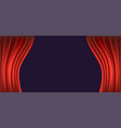 red template curtain opens background vector image vector image