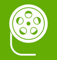 reel with film icon green vector image vector image