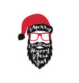 santa claus on white background merry christmas vector image vector image
