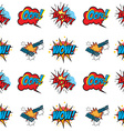 Set of Comic Text Pop Art style seamless pattern vector image vector image