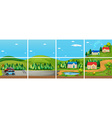 Set of different scene from the countryside vector image vector image