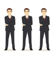 Set of thoughtful business man vector image vector image