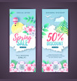 set spring big sale discount cards vector image