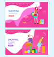 shopping web pages people buying products in shops vector image