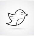 social bird flat line trendy black icon eps10 vector image vector image