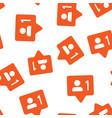 social media notification sign icon seamless vector image vector image