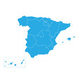 spanish map devided to 17 administrative vector image