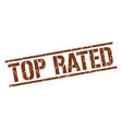 top rated stamp vector image vector image