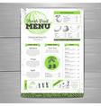 Vintage grunge vegetarian food menu design vector image vector image
