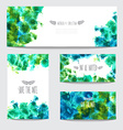 watercolor cards set vector image
