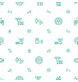 wireless icons pattern seamless white background vector image vector image
