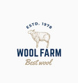 wool farm abstract sign symbol or logo vector image vector image